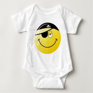 Pirate Smiley Face Baby Bodysuit