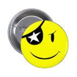 Pirate Smiley Face Pinback Button