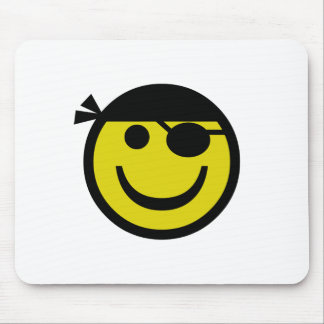 Pirate Smiley Mouse Pad