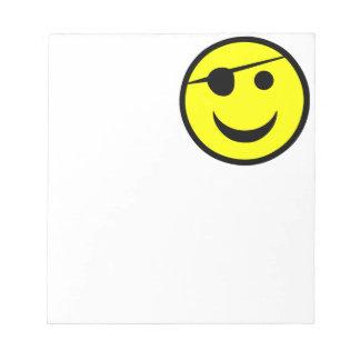 Pirate Smiley Memo Pad