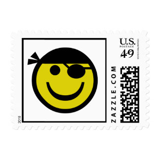 Pirate Smiley Postage Stamp