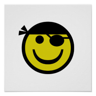 Pirate Smiley Poster