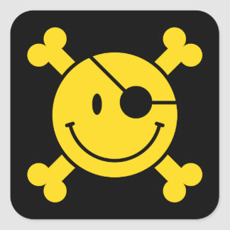 Pirate Smiley Stickers