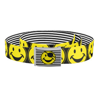 Pirate Smiley yellow & stripes + your back & idea Belt