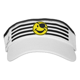 Pirate Smiley yellow & stripes + your back. & idea Visor