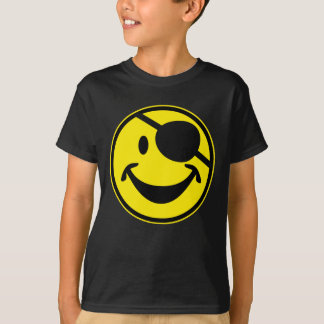 Pirate Smiley yellow + your backg. & ideas T-Shirt