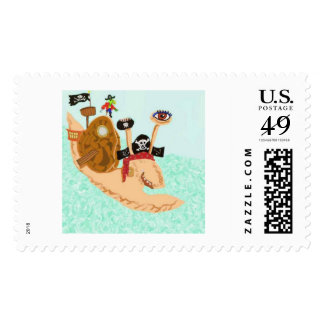 Pirate Snail Mail Magrid Postage
