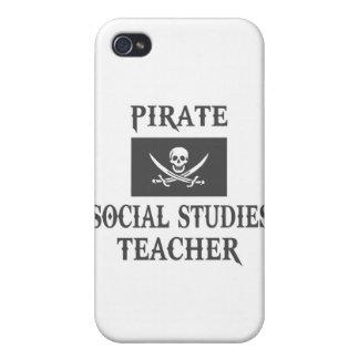 Pirate Social Studies Teacher iPhone 4/4S Cases