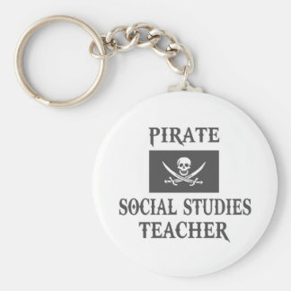 Pirate Social Studies Teacher Key Chains