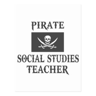 Pirate Social Studies Teacher Postcard