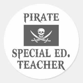 Pirate Special Ed. Teacher Classic Round Sticker