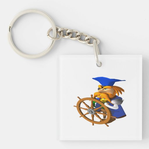 Pirate Square Acrylic Key Chains