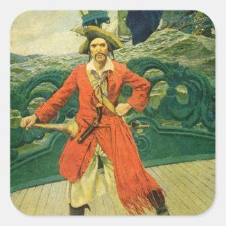 Pirate Square Sticker