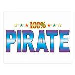 Pirate Star Tag v2 Post Card