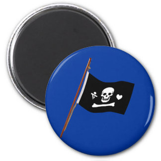 Pirate Stede Bonnet Jolly Roger Fflag 2 Inch Round Magnet