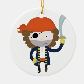 Pirate stereotype christmas ornament