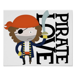 Pirate stereotype poster