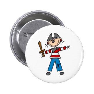 Pirate Stick Figure Button