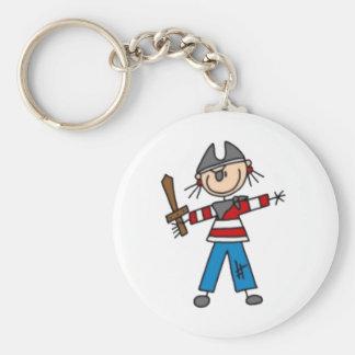 Pirate Stick Figure Keychain