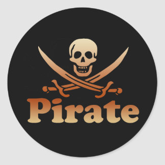 Pirate Round Stickers