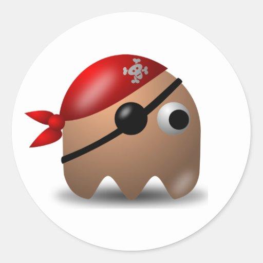 Pirate_sticker4 Pegatina Redonda