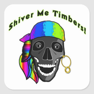 Pirate Stickers - Shiver Me Timbers