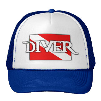 Pirate-style Dive Flag Trucker Hat