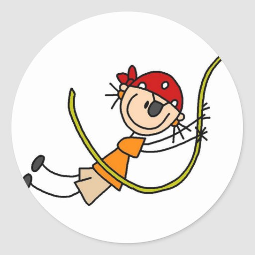 Pirate Swinging Sticker