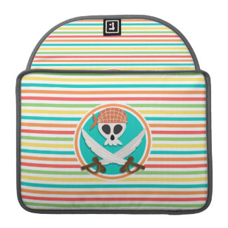 Pirate Swords; Bright Rainbow Stripes Sleeves For MacBook Pro
