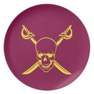 Pirate symbol dinner plate