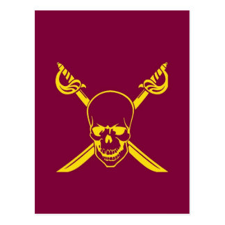 Pirate symbol postcard