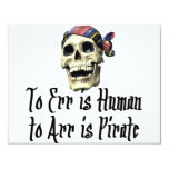 Pirate T-shirts and Gifts. Personalized Invitations