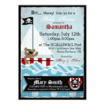 Pirate Teddy Bear Baby Shower 5x7 Paper Invitation Card