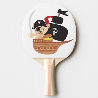 Pirate Teddy Bear Ping Pong Paddle