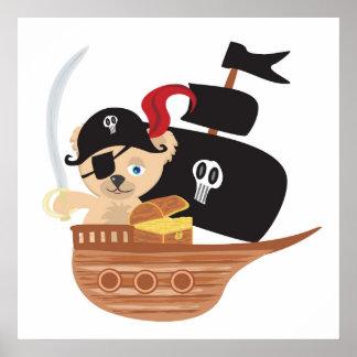 Pirate Teddy Bear Poster