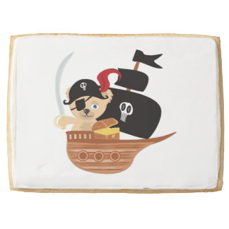 Pirate Teddy Bear Premium Jumbo Shortbread Cookie Jumbo Cookie