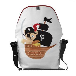 Pirate Teddy Bear  Rickshaw Messenger Bag