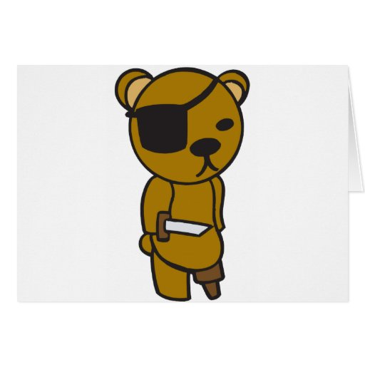 Pirate Teddy Greeting Cards