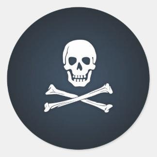 pirate-template.jpg classic round sticker