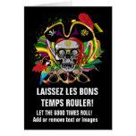 Pirate Template Mardi Gras Card