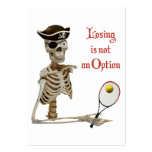 Pirate Tennis Losing Skeleton Large Business Cards (Pack Of 100)