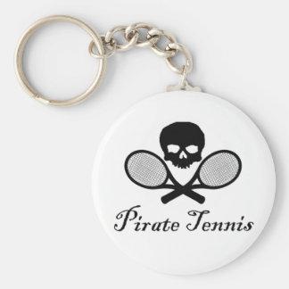 Pirate Tennis Skull & Racquet Keychain
