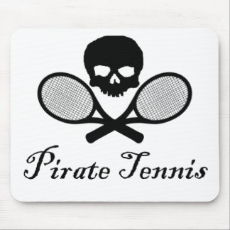 Pirate Tennis Skull & Racquet Mouse Pad