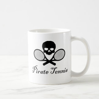 Pirate Tennis Skull & Racquet Mug