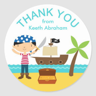 Pirate Thank You Stickers