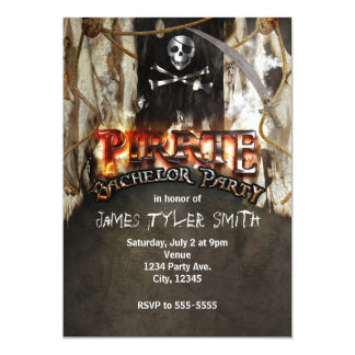 Pirate Theme Bachelor Party Invitations
