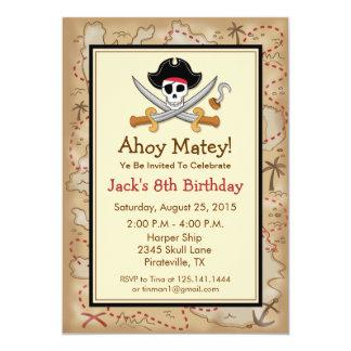 Pirate Theme Birthday Party Invitation