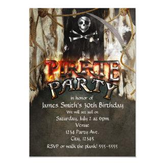 Pirate Theme Birthday Party Invitations