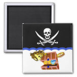 Pirate Theme:Clean Dirty Dish washer magnet