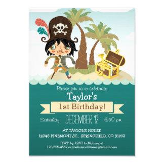Pirate Themed Birthday, Boy's Birthday Party Card